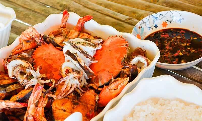 Gastronomía típica en Cebu.