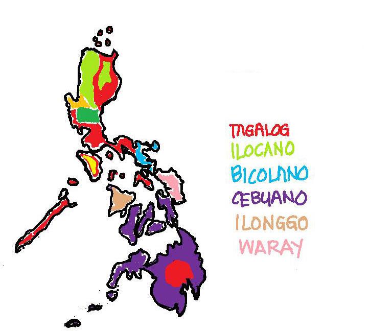 Idiomas en Filipinas: Tagalog, cebuano, ilocano,...