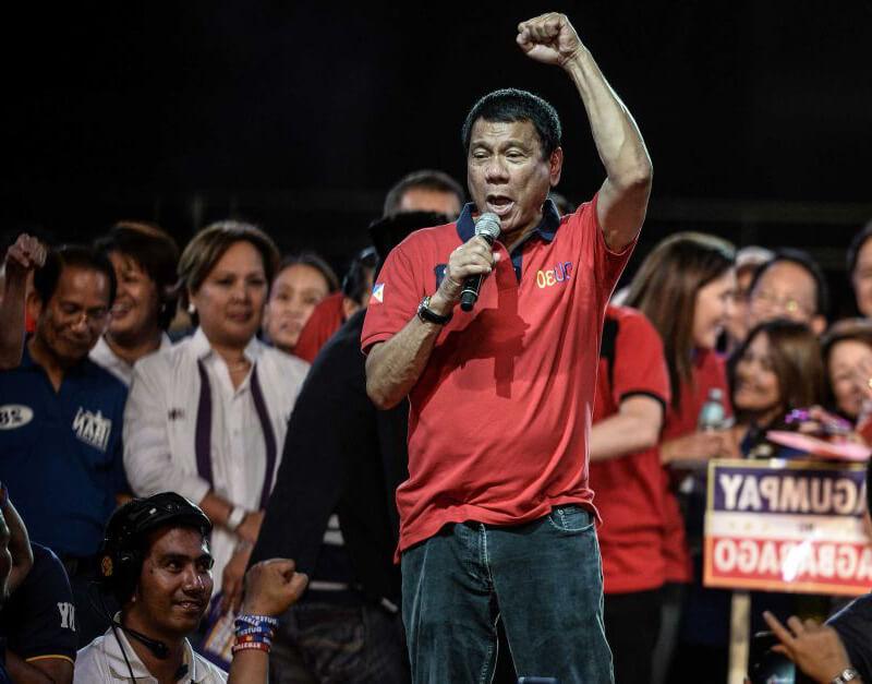 Mitin de Rodrigo Duterte
